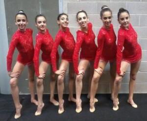 Le ragazze della sezione Ritmica della PGS Auxilium