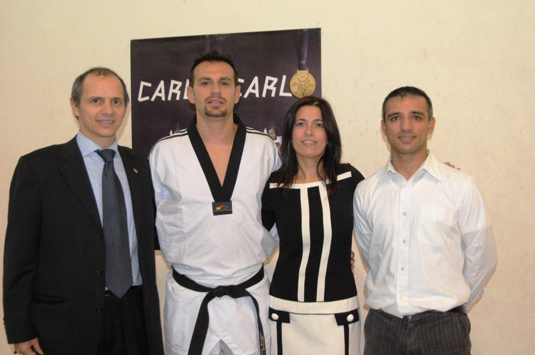 Carlo Molfetta a Savona con tutto il taekwondo ligure
