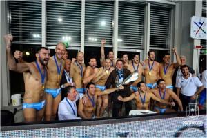 Pro Recco in festa per la vittoria della Supercoppa
