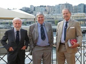 I dirigenti del CUS Genova: Cairo, Nasciuti e Bertirotti