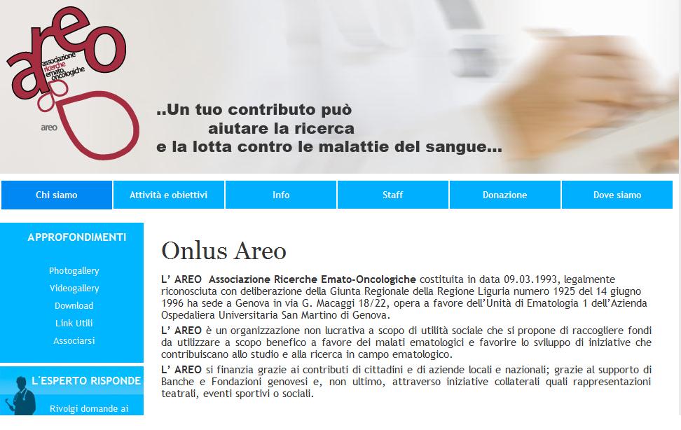Areo Onlus - www.onlusareo.it