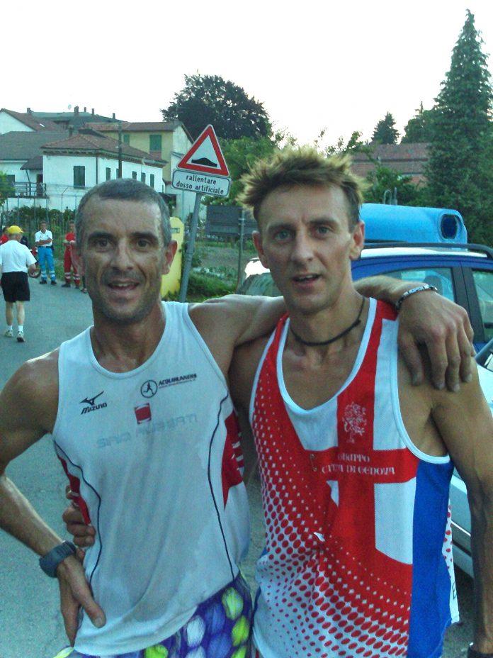 Corrado Ramorino a destra