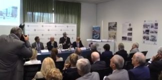 La sala sportiva dell'Automobile Club Genova durante incontro sulla sicurezza promosso insieme al Rotary