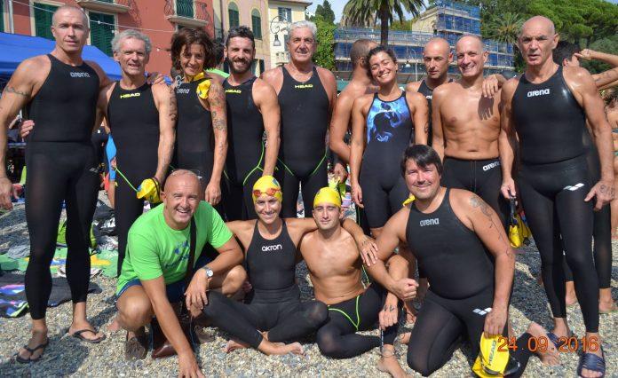 La squadra Master del Rapallo Nuoto
