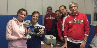 Le vincitrici del Beach Volley organizzato dalla Virtus Sestri