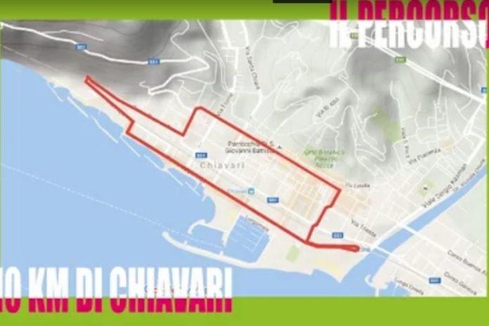 La mappa della 10 km di Chiavari