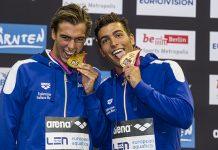 Gregorio Paltrinieri e Gabriele Detti