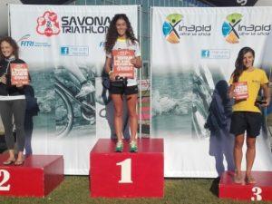 A Vittoria Bergamini il primo Triathlon Sprint di Savona