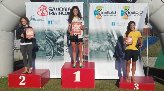 La premiazione del Triathlon Savona