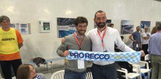 Il presidente della Pro Recco Felugo con Andrea Agnelli