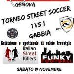 La locandina del torneo di Street Soccer