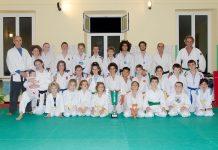 La squadra del Ju Jitsu Pieve Ligure-Scuola Corallo