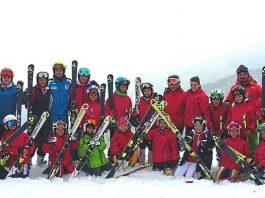 La squadra dello Ski Club Savona