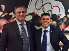 Melis (a destra) insieme al Presidente Nazionale Mignardi che ha presenziato ieri all'Assemblea elettiva genovese