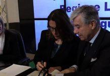 L'assessore regionale Ilaria Cavo assieme al governatore Area 4 Antonio Micillo