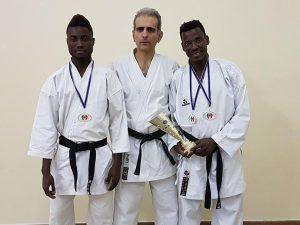 Marco Soggiu e i campioni di Marcelline Genova Sport