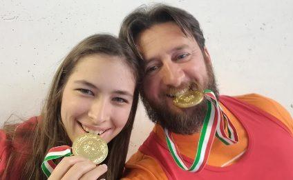 Simone Capelli e Ilaria Naef della asdPalextra portano in Liguria due medaglie d'oro