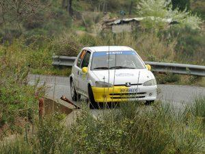 Lanterna Corse Rally Team in chiaroscuro al Rally di Sanremo
