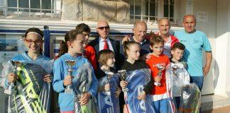 Alcune premiazioni dei circuiti del tennis liguri