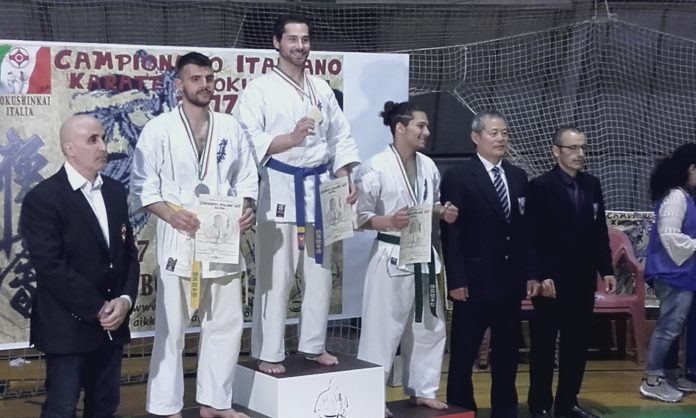 Federico Silanos sul podio