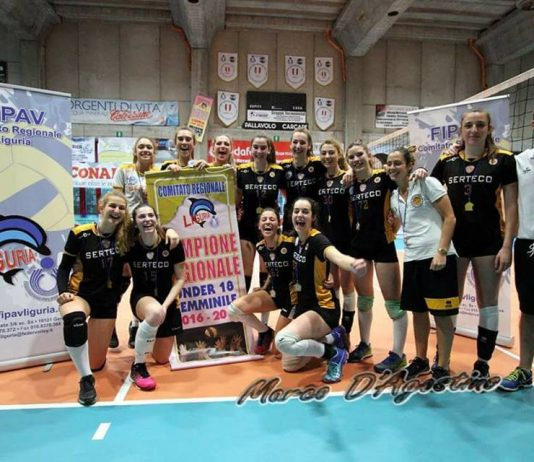 Le Under 18 della Serteco campionesse regionali