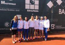 La squadra del tennis femminile del Park