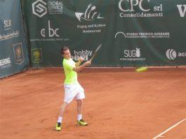 Un giocatore del Park tennis Genova