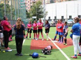 Un momento del raduno della Liguria Softball