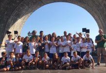 Il team Rapallo Nuoto a Zoagli