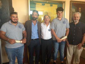 Samuele Della Torre e Lorenzo Rossi premiati dal Comune di Taggia