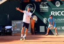 Andrea Basso all'Aon Open Challenger
