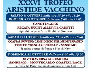 Nel week end il 36° Trofeo Aristide Vacchino