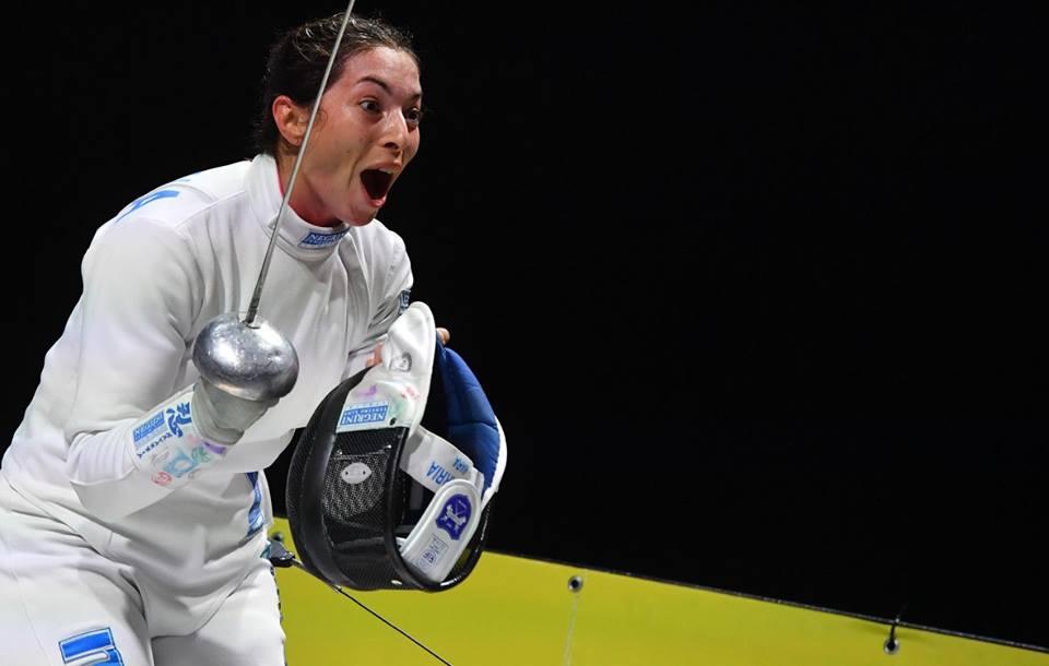 Mara Navarria felice dopo il successo in Coppa del Mondo
