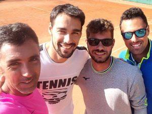 Fognini in allenamento al Tennis Sanremo