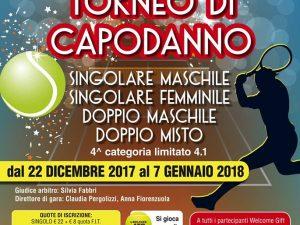 Il 22 dicembre parte il Torneo di Capodanno del TC Bogliasco