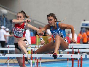 Luminosa Bogliolo campionessa italiana nei 100 hs a Pescara