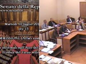 UISP, Tiziano Pesce audito al Senato su Riforma Terzo settore e sport