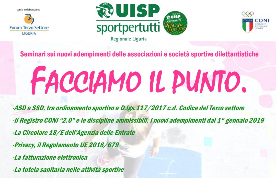 Sport e fisco, al via il ciclo di seminari gratuiti. Sabato si parte a Genova