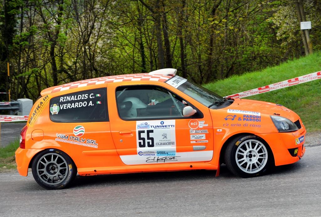 Verardo e Rinaldis al via al Rally 38° Trofeo Aci Como
