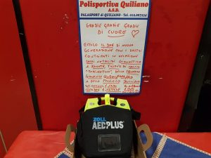 Alla Polisportiva Quiliano arriva il defibrillatore