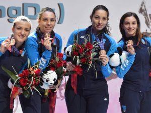 Mara Navarria sul podio in Coppa del Mondo in Cina