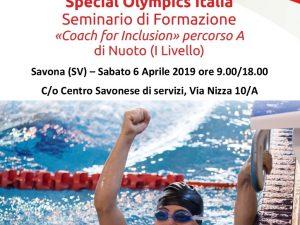 Lucia Zulberti  a Savona per un seminario Nuoto