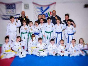 Ottanta atleti a lezione da Basile con Lanterna Taekwondo