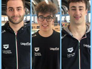 Razzetti, Nardini e Rinaldi in Nazionale per Universiadi e la Mediterranean Cup