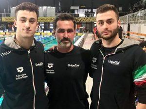 Nardini, Razzetti con coach Ambrosi all'Aquarena Cup