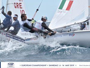 Quarto giorno dell'Europeo 470, condizioni dure a Sanremo