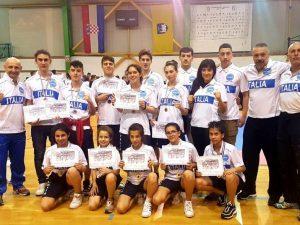 Sette medaglie azzurre per l'Ecole de Savate in Croazia