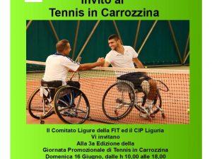 Domenica la giornata del tennis paralimpico