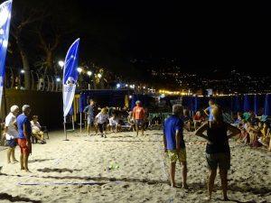 Alassio beach in attesa del Mondiale