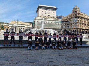 Giornata Europea della Sicurezza Stradale: flash mob a De Ferrari